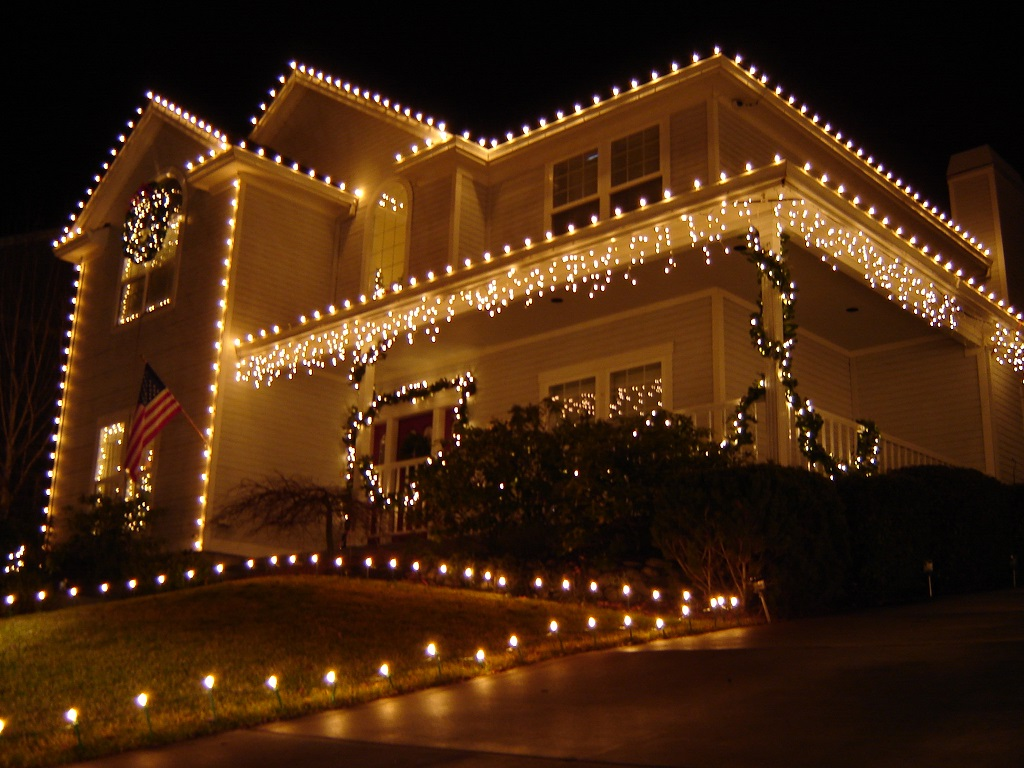 House with electric lights